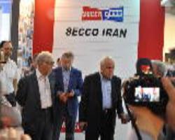 بازدید دکتر اسفهبدی از غرفه سکو ایران
